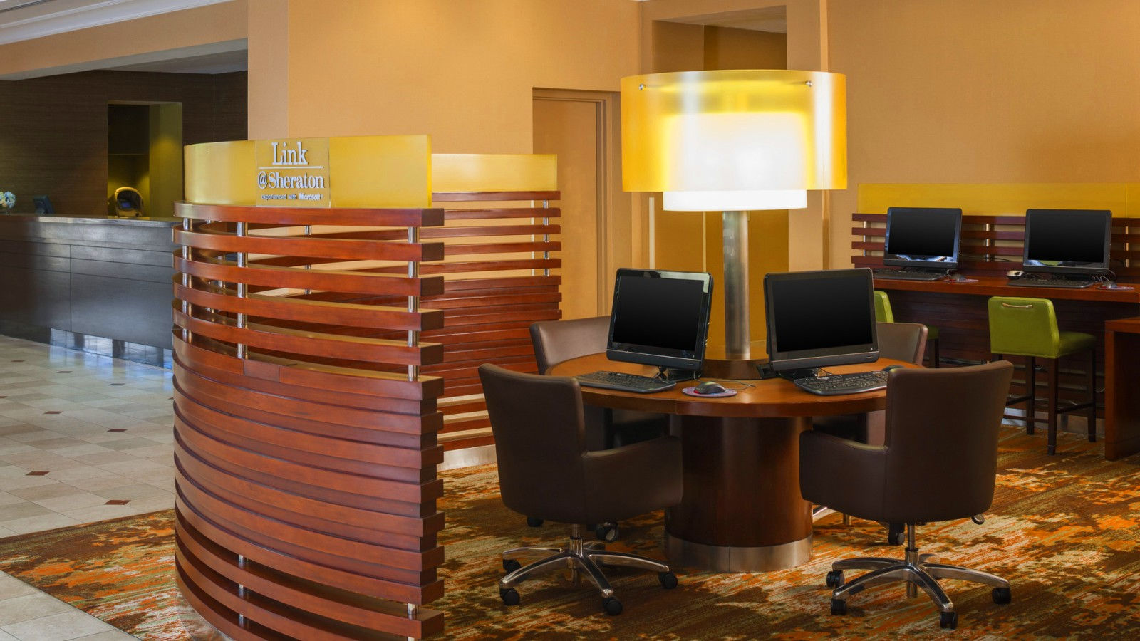 Lobby Workstations Sheraton Suites Market Center Dallas